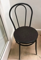 8 black bistro style chairs - Prop Hire from The Props List