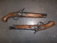 Flintlock Pistols Prop Hire from The Props List