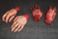 Severed Hands (Gory Finish) Prop Hire from The Props List