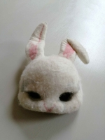 White rabbit mask Prop Hire from The Props List