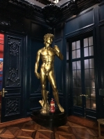 Large Gold Statue of Michelangelo