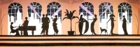 Art deco backdrop Prop Hire from The Props List