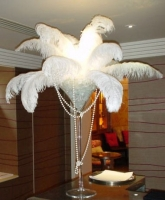 ostrich feather centrepieces Prop Hire from The Props List