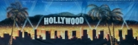 Hollywood hills sign backdrop Prop Hire from The Props List