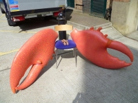 Giant wearable lobster claws Prop Hire from The Props List