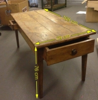 Large farmhouse kitchen table Prop Hire from The Props List