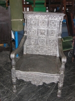 Large Silver Bishops Throne Prop Hire from The Props List