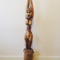 Old handcrafted women fetish statue Prop Hire from The Props List